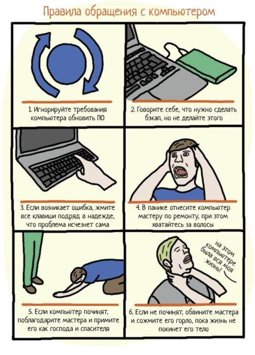 Правила поведения с компьютером