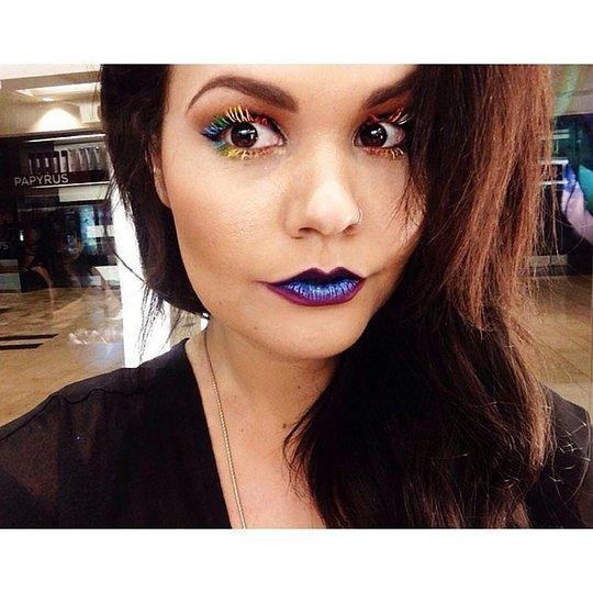 Райдужні вії - різнокольоровий beauty-тренд з Instagram