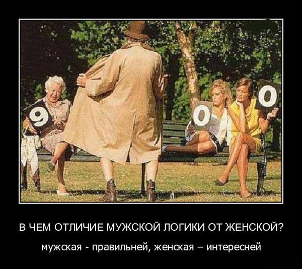 ТОП лучших демотиваторов про женскую логику