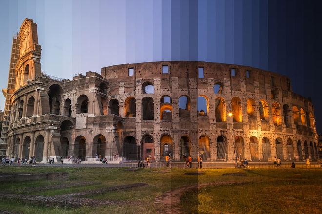 Шматочки часу: як виглядають культові будівлі протягом дня