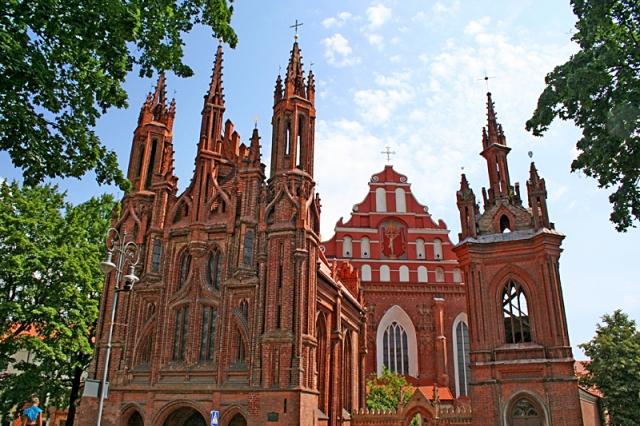 Достопримечательности Вильнюса: костел Святой Анны