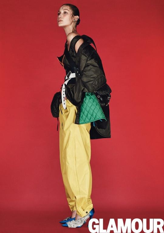 Белла Хадид в фотосессии для сентябрьского Glamour