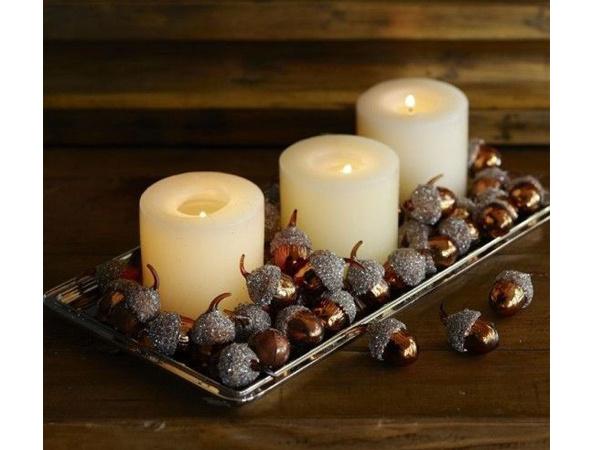Осенний декор из желудей