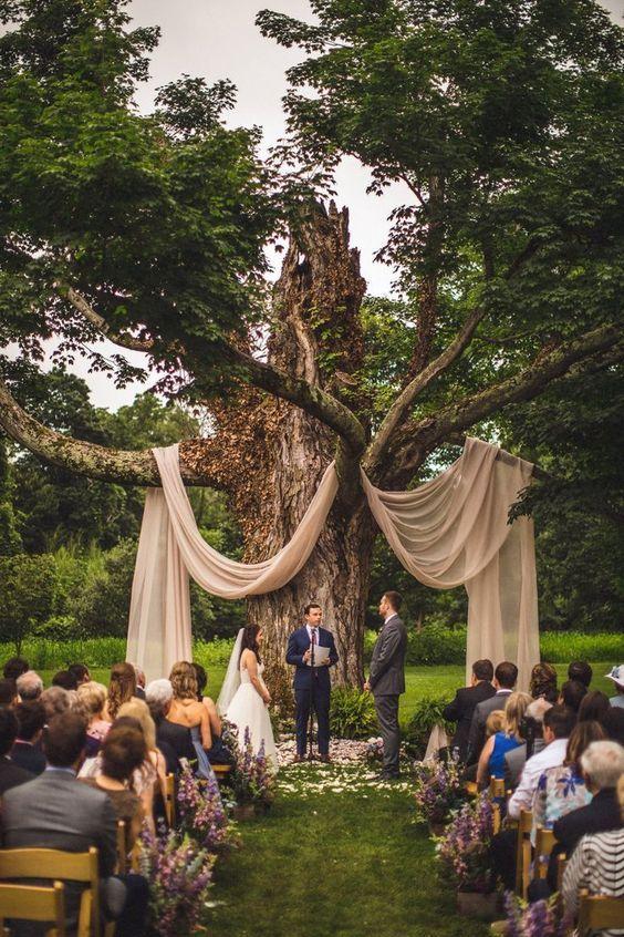 Свадьбы на открытом воздухе — тренд 2021