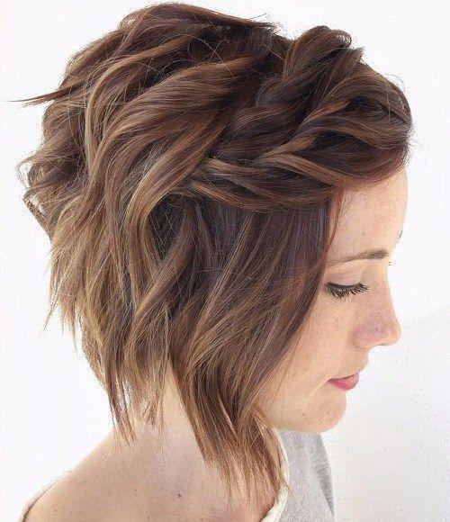 Прическа на короткие волосы на 14 февраля