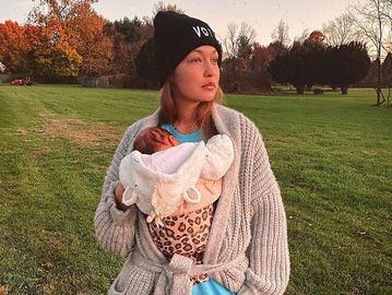 Джиджи Хадид с двухмесячной дочерью