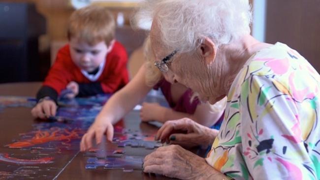 Дом престарелых и детский сад