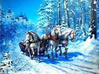 Открытки с Новым годом Лошади 2014