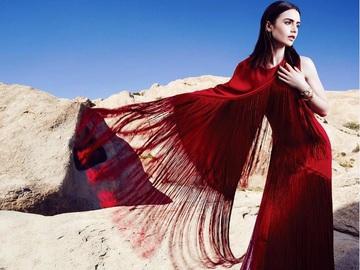Лили Коллинз для мексиканского Glamour