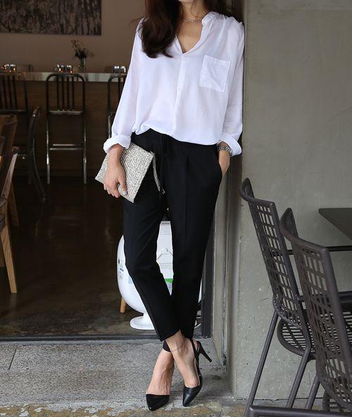 Белая рубашка летом