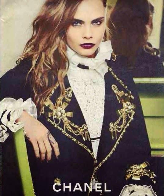 Кара Делевинь в Chanel