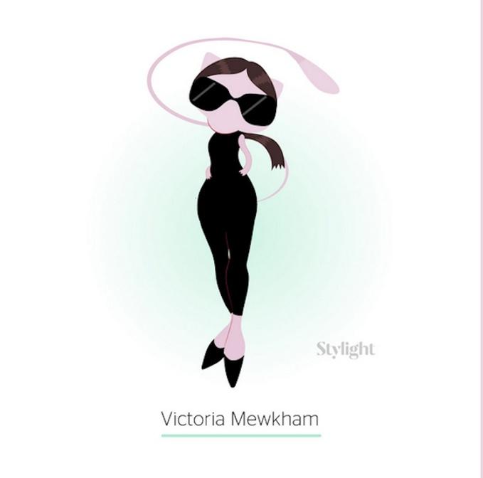 Виктория Бекхэм в образе покемона