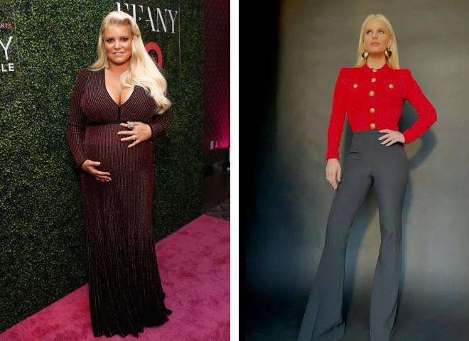 Джессіка Сімпсон до і після схуднення