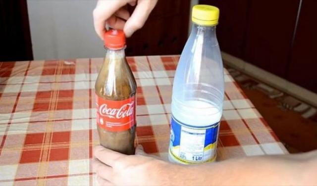 Результат добавления в колу молока