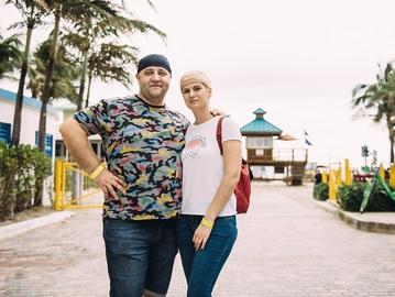 Егор Крутоголов с женой