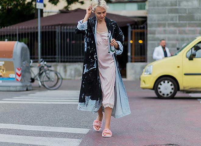 Пижамный стиль: street-style образы