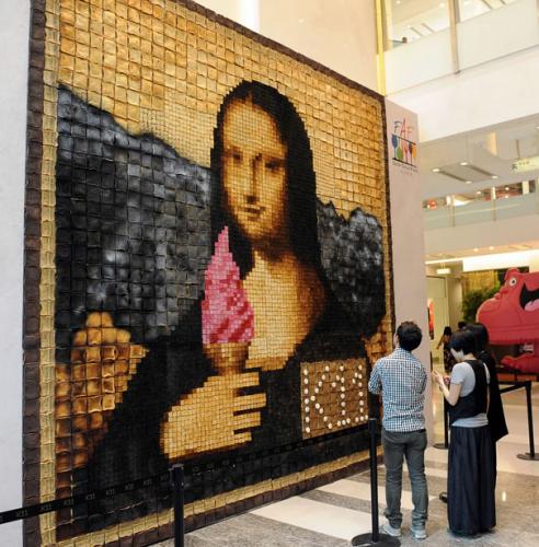 Мона Лиза ест мороженое