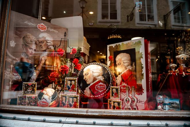 сувениры моцарт зальцбург