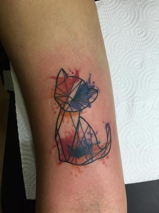 Мимишные татуировки с котиками