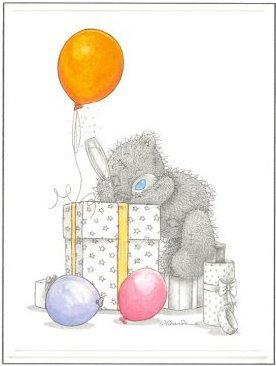 Открытка Тедди в твой День рождения!