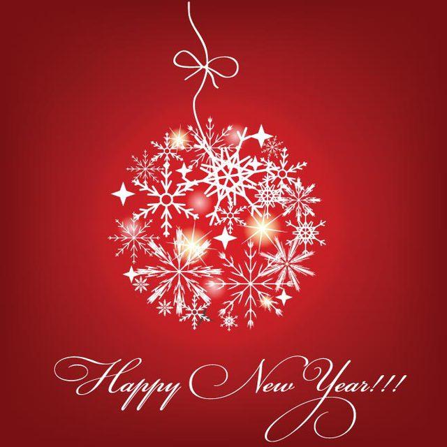 Красивая открытка с Новым годом 2015