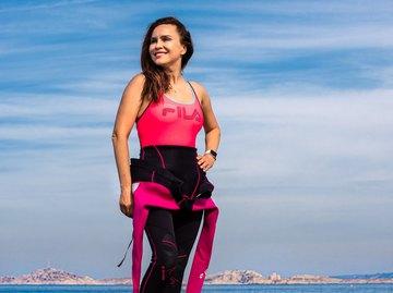 Анастасія Даугуле пропливла 5 км по шляху графа Монте-Крісто