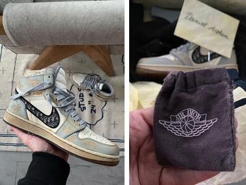 Кастомізовані кросівки Dior x Nike Air Jordan 1