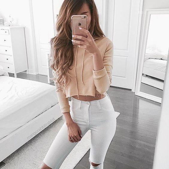 Белые джинсы лето 2018