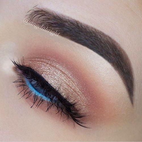 Весілльний макіяж: блакитні очі