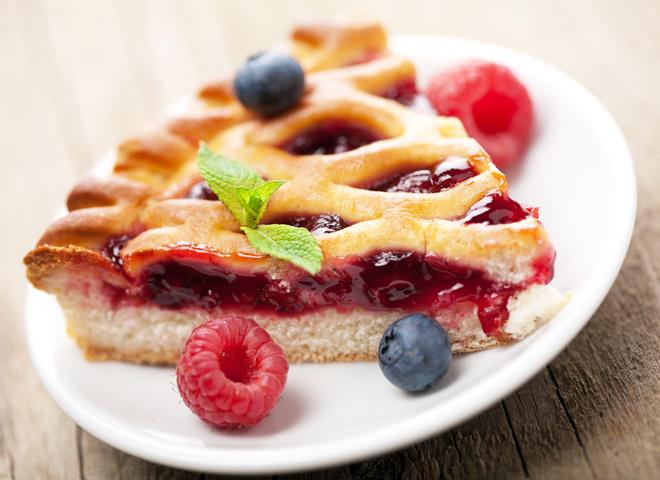 Пиріг з малиною