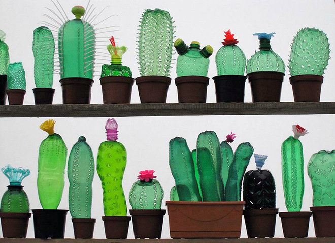 Арт-объекты из пластиковых бутылок