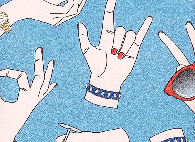 Сумки Trussardi Gestures учат итальянской жестикуляции