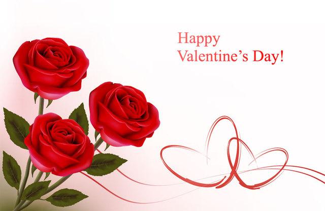 Красивая открытка с днем Святого Валентина 2015