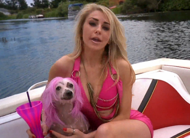 Кортні Стодден з собакою
