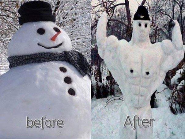 Займись спортом, Снеговик!