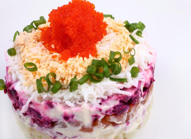 Салат под шубой рецепт красной рыбой