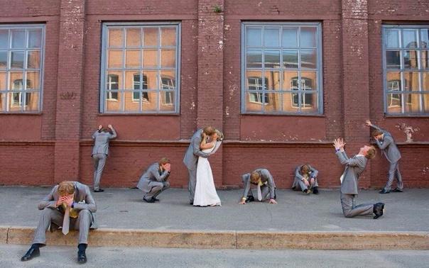 Как не стоит фотографироваться на свадьбе