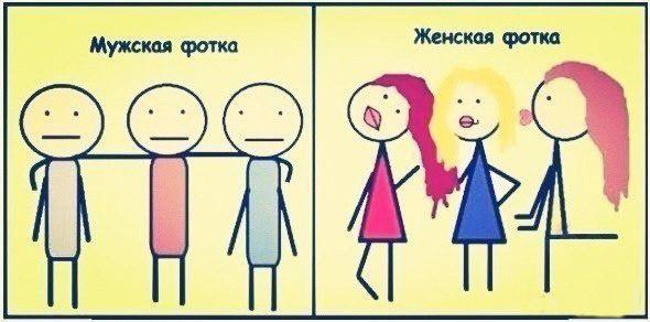Как фотографируются парни и девушки