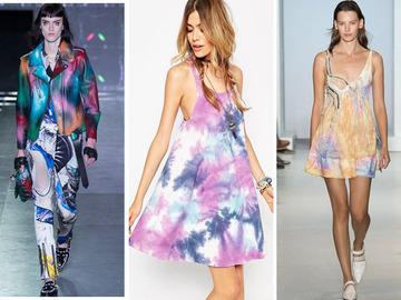 Модные образы в расцветке tie-dye