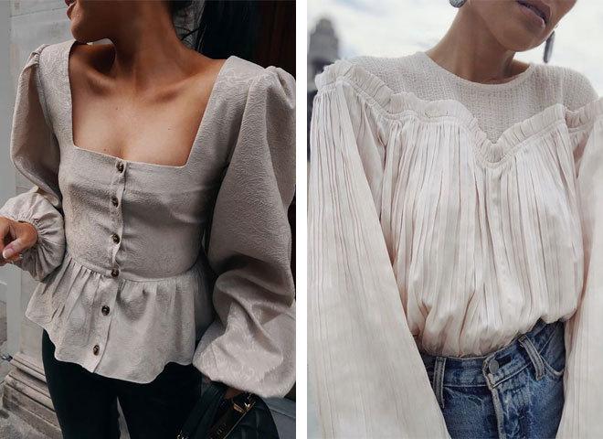Блуза з об'ємними рукавами 2020