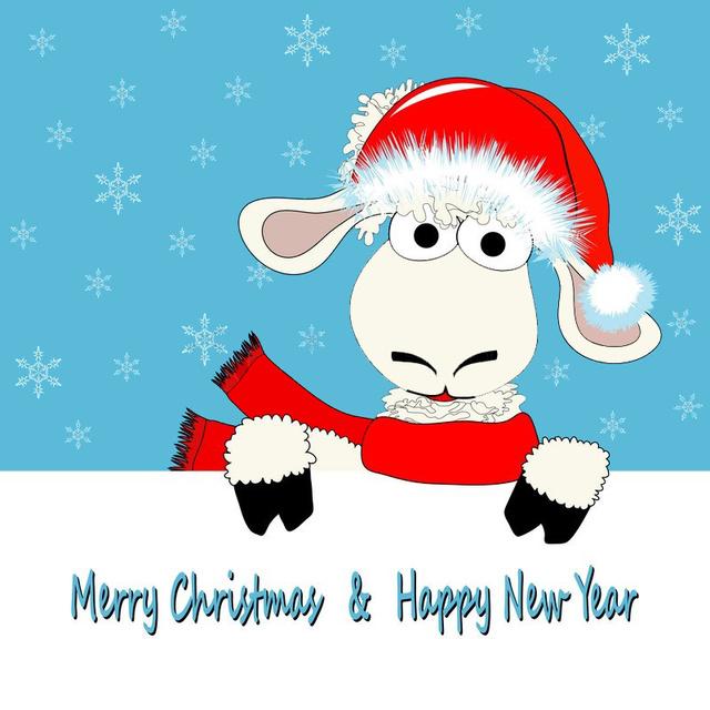 Милая открытка с овечкой 2015
