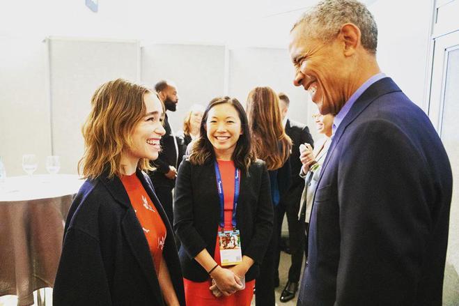 Емілія Кларк і Барак Обама