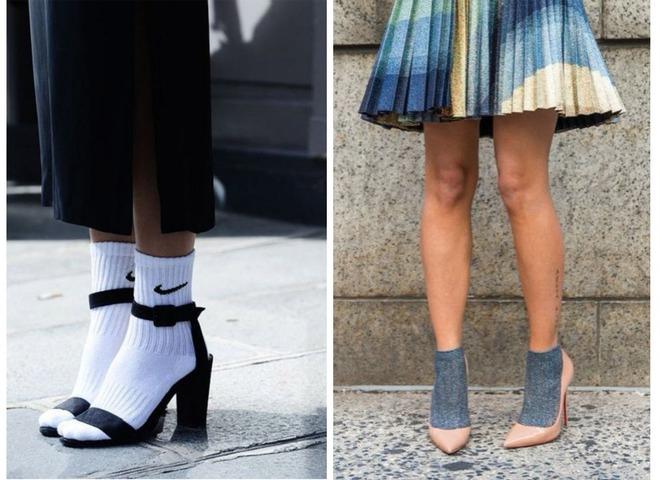Туфлі зі шкарпетками