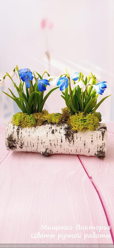Весенние цветы из холодного фарфора
