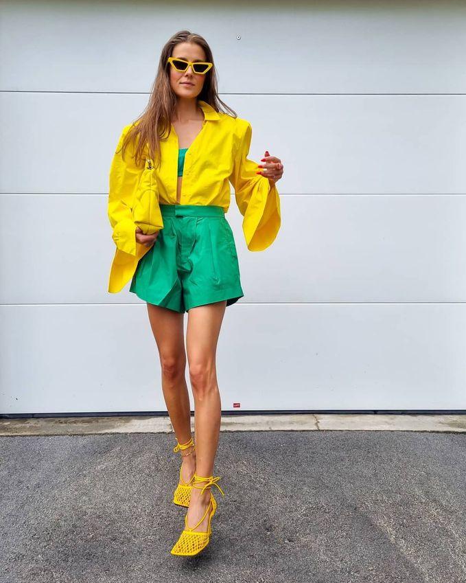 С чем сочетать зеленый цвет в гардеробе