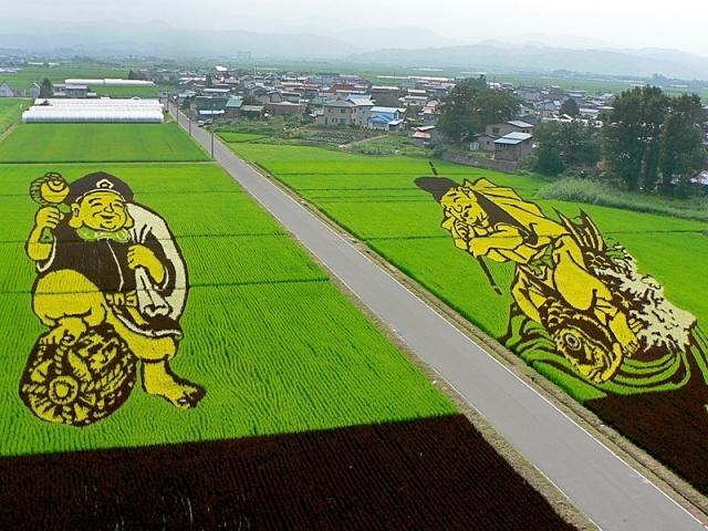 Рисовое искусство Японии