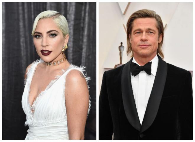 Леди Гага и Брэд Питт