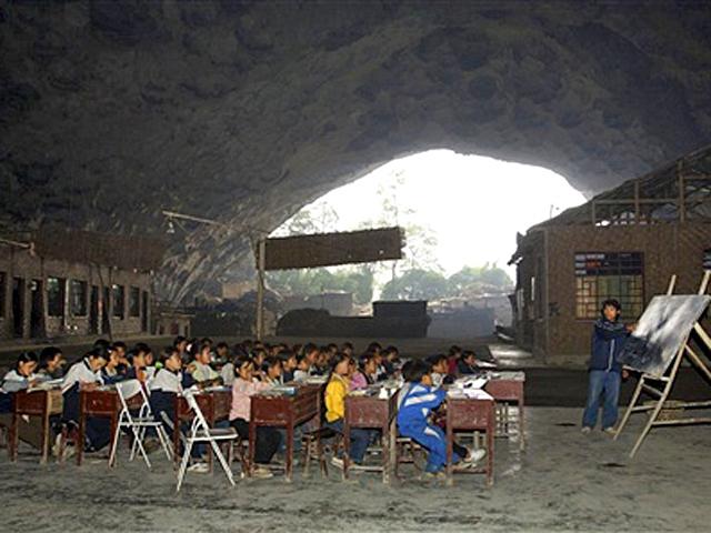 Самі незвичайні школи світу: Школа в печері, Гуйчжоу, Китай