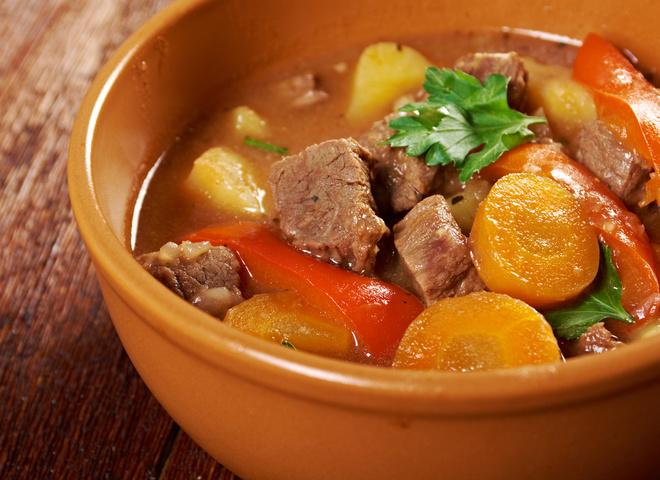 Мясо с овощами, Овощное рагу с мясом