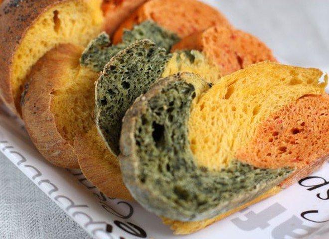 Овощной трехцветный хлеб